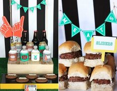 Such A Cute Football party set up!