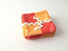 Cute Orange Tie Dye Coasters Hand Made Set of 6 by 2Fun4Words