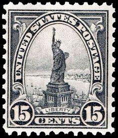 Liberty, a .15¢ grey US stamp issued in 1931