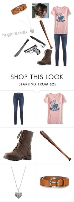 """Negans dead"" by dgracelawson on Polyvore featuring AG Adriano Goldschmied, Aéropostale, Charlotte Russe, Lucille, Silver Expressions by LArocks and Étoile Isabel Marant"