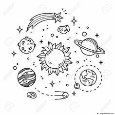 Sistema Solar para Imprimir y Colorear - Jugar Pintando