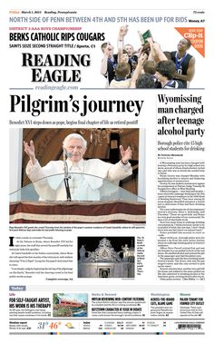 Today's front page, March 1, 2013.