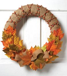 Find inspiration for countless crafting projects! Learn how to craft beautiful wreaths, floral arrangements, hair pieces, and more at JOANN's. Easy Fall Wreaths, Diy Fall Wreath, Christmas Wreaths, Burlap Christmas, Country Christmas, Christmas Christmas, Burlap Crafts, Wreath Crafts, Burlap Fall Decor