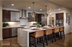 Skylar at Playa Vista received a 2014 Best in American Living Platinum Award for Development Up to 5 Stories New Homes For Sale, Neat Kitchen Ideas, Modern Wood Kitchen, Contemporary Kitchen, Log Home Kitchens, Interior Design Accents, Home Kitchens, Kb Homes, Kitchen Design