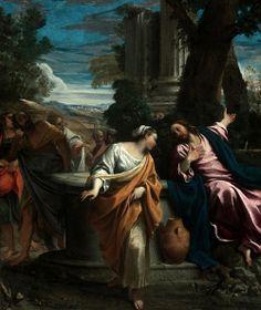 Annibale Carracci: Jesús y la samaritana.
