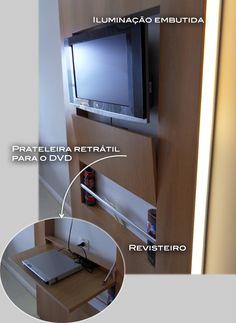 Sem espaço para o DVD? Solução simples para seu problema.   Conselho: prenda um velcro na parte de baixo, ou mesm uma fivela para que o ...