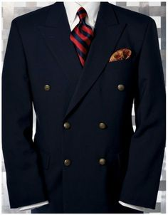Mens Navy Blue Double Breasted Blazer is part of Double breasted blazer - Mens Fashion Suits, Mens Suits, Suit Men, Emo Fashion, Mens Double Breasted Blazer, Travel Blazer, Mens Attire, Dapper Men, Well Dressed Men