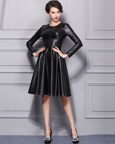Leather Couture Dresses