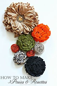 How to make diy Posies and Rosettes using Velvet, Felt and Ribbon