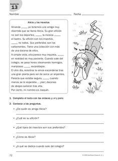 Elementary Spanish, Spanish Classroom, Preschool Education, Teaching Resources, Spanish Worksheets, Spanish Language Learning, Language Development, Reading Comprehension, Vocabulary
