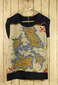 map print t-shirt. i have a thing for maps