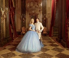Lily James and Richard Madden in Cinderella (2015).