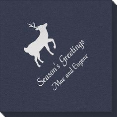 Personalized Deer Park Linen Like Napkins