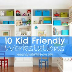 Inspiration for Moms has discovered 10 work stations that are perfect for back to school homework.