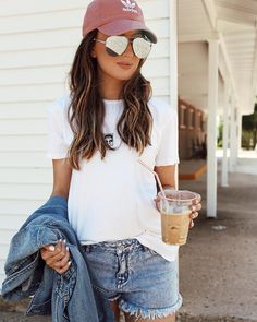 "Somewhere, Lately on Instagram: ""Iced coffee run ☕️ these shorts are on sale for $20!  and I ordered up a size for a looser fit, shop it here or on the blog! @pacsun…"""