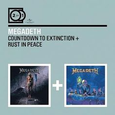 """Gli album dei #Megadeth intitolati """"Countdown To Extinction"""" e """"Rust In Peace""""."""