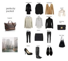 Packing for The City by coffeestainedcashmere on Polyvore featuring Acne Studios, 3.1 Phillip Lim, Helmut Lang, Clemens en August, Uniqlo, Joseph, Ann Demeulemeester, Rebecca Minkoff, Jimmy Choo and Longchamp
