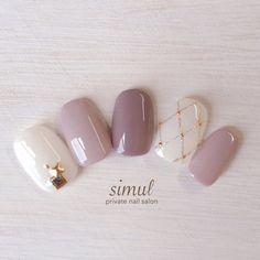 Perfect Nails, Gorgeous Nails, Love Nails, Pretty Nails, Bridal Nails, Wedding Nails, Gel Nagel Design, Japanese Nails, Simple Nails