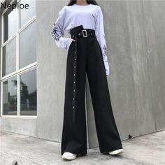 Korean Girl Fashion, Ulzzang Fashion, Korean Street Fashion, Kpop Fashion Outfits, Korean Outfits, Mode Outfits, Fashion Pants, Look Fashion, Daily Fashion