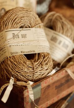 jute - use it to wrap a gift with brown paper or black and white