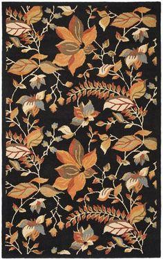 Safavieh Blossom BLM913B Black / Multi Area Rug