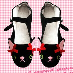 Kitty Cat Mary Jane Shoes  Size 7 by emandsprout on Etsy, $25.00