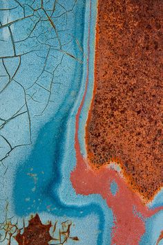 Texture of rust. Highlighting earth layers, erosion, corruption. Nice colour scheme