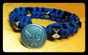 Air Force Paracode bracelet designed and personally handmade by Leeann Tweeden