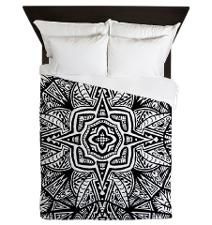 Aztec Patterned Star Queen Duvet