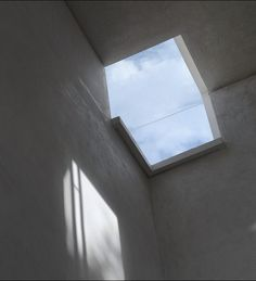Repin from John: This is an example of how a skylight window can frame the sky.