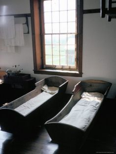 The Shakers used adult sized cradles to rock the sick to soothe them. Canterbury Shaker Village, Canterbury NH