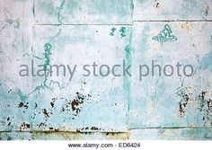 Old green grungy painted steel sheet, detailed background texture - Stock Photo