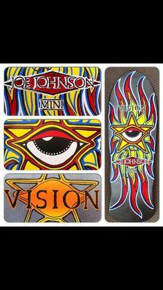 Joe Johnson Vision Skateboards, Skate 4, Joe Johnson, Skateboarding, Decks, Awesome, Cards, Vintage, Stuff Stuff