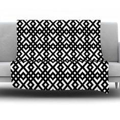 "KESS InHouse Dijagonala by Trebam Fleece Throw Blanket Size: 60'' H x 50'' W x 1"" D"
