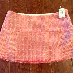 New A&F Pink Skirt New with tags, size 6, zips on the side, cream and pink, front top to bottom approx 12 inches Abercrombie & Fitch Skirts Mini