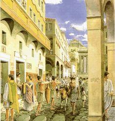 Roman street with tabernae.