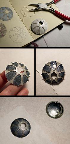 A few photos of the cloisonné process . . .