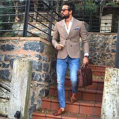 Tenue chic pour aller travailler #look #chic #mode #men #fashion #fashionformen