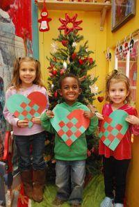 Norwegian paper woven hearts