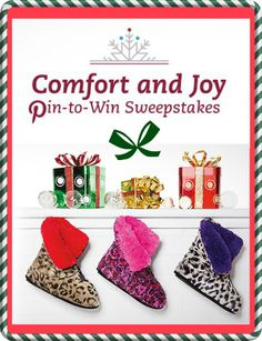 Enter win a pair of @Dearfoams Chalet Collection Slippers Giveaway! FANTASTIC GIVEAWAY! Enter here http://momdoesreviews.com/2014/12/15/comfortandjoy-pin-win-win-dearfoam-chalet-collection-slippers-us-ends-1223/ For Your Chance To Win! YOU KNOW THAT I MOST DEFINITELY ENTERED THIS!!!!! I LOVE IT!!!!! Thanks, Michele :)