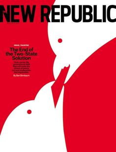 The New Republic went with an illustration of two birds... feeding each other? Or attacking one another? Hard to tell.
