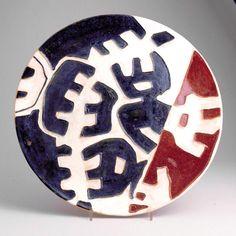 Giuseppe Capogrossi, piatto in ceramica, 1957