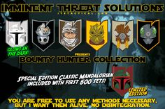 Our newest Limited Edition Morale Patch Collection is here! The ITS Bounty Hunter Morale Patch Collection pays homage to all our favorite Galactic Bounty Hunters and is an extremely limited offering.  While 750 sets of this collection were produced, only the first 500 sets ordered will receive a Classic Mandalorian Patch as an included bonus. http://itstac.tc/1UKmRff