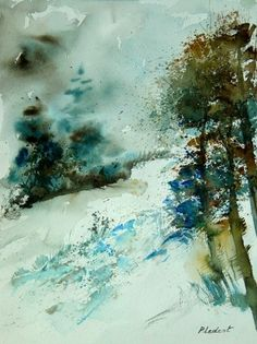 watercolor  040305, painting by artist ledent pol