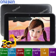 """(#ONEBEN) A8 7"""" #Pantalla Capacitiva Android 4.0 4GB MTK6575 3G Tablet Phone w/ GPS  http://www.tinydeal.com/es/oneben-a8-7-android-40-4gb-3g-tablet-phone-w-gps-bluetooth-p-81087.html"""
