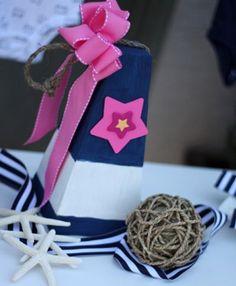 nautica theme baby shower for girls | Nautical Baby Shower Centerpiece