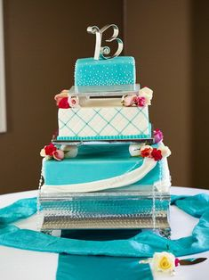 blue square wedding cakes design womenboard net more red wedding cakes ...