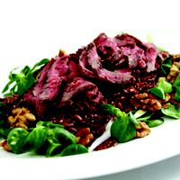 How about a lovely warm beef salad served with wild Camargue Rice? One of my favourites for picnics and very good for you. Just one of my many recipes. Check out http://chemocookeryshop.com/products/chemo-cookery-club