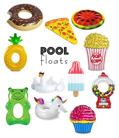 """""""Pool Floats"""" by starbucks14claire ❤ liked on Polyvore featuring interior, interiors, interior design, home, home decor, interior decorating, Big Mouth and poolfloats"""