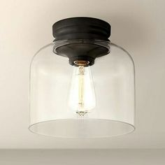 Feiss Hounslow 9 High Bronze and Clear Glass Ceiling Light Hall Lighting, Bathroom Lighting, Lighting Ideas, Kitchen Lighting, Outdoor Lighting, Vanity Lighting, Fixer Upper, Hallway Light Fixtures, Bath Fixtures